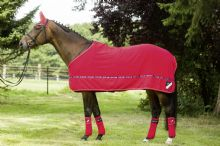 HKM INTERNATIONAL RED FLEECE RUG - SALE